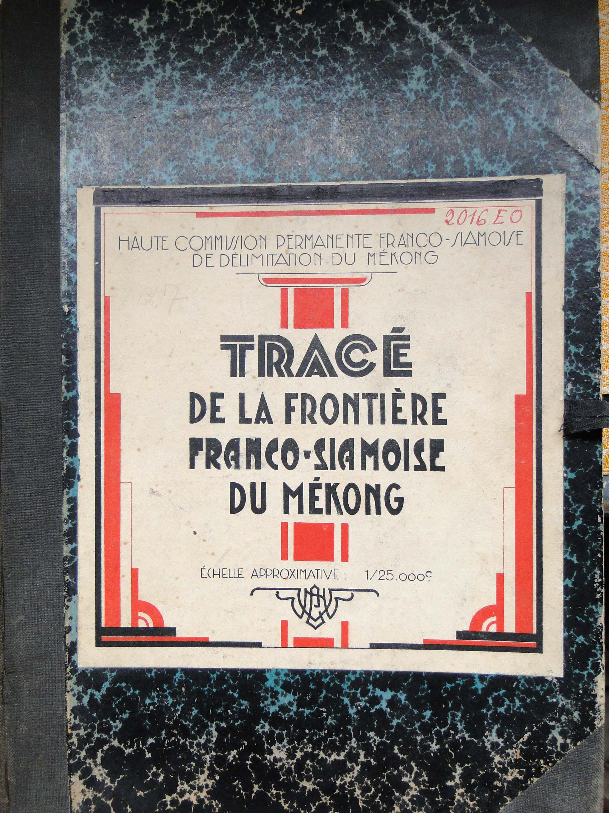 Trace Frontiere Franco-Siamoise Mekong